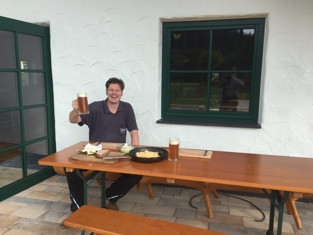 Good and solid breakfast with the master brewer during a nice September morning